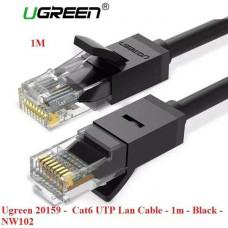 Cáp cat 6 UTP dẹp mạng LAN model NW104 đen 0.5M Ugreen 11234