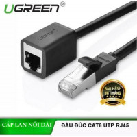 Cáp đực/cái PatchCords với Shielding nối dài Cat 6 FTP Ethernet RJ45 model NW112 đen 0.5M Ugreen 11278