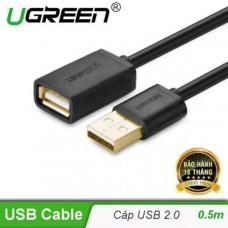 Cáp dẹp nối dài USB 2.0 A đực ra A cái model US103 0.5M Ugreen 10886