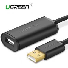 Cáp nối dài có Chipset USB 2.0 Active model US121 đen 15M Ugreen 10323