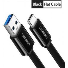 Cáp dẹp USB 3.0 ra USB-C model US172 đen 0.25m Ugreen 10695