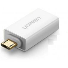 Bộ chuyển đổi Micro USB ra USB 2.0 model US195 trắng Ugreen 30529