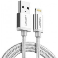 Cáp lightning ra USB ( vỏ nhôm dây bện ) MFI model US199 trắng 1M trắng 1M Ugreen 30584