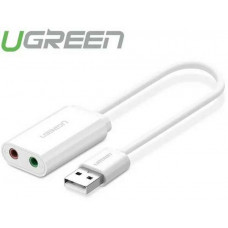 Bộ chuyển đổi USB 2.0 External Sound model US205 trắng trắng Ugreen 30143