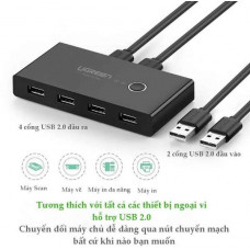 Hộp chuyển 2 in 4 Out USB2.0 Sharing model US216 USB 2.0 USB 2.0 Ugreen 30767