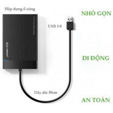 Cáp 2.5 hard disk box với model US221 đen Ugreen 30848