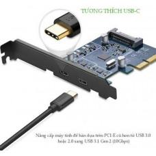 Bộ chuyển đổi xe hơi d PCI E ra 2 x Type C model US230 80CM 80CM Ugreen 30773