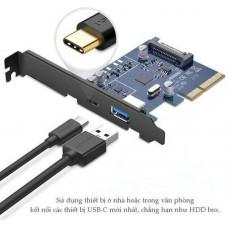 Bộ chuyển đổi xe hơi d E to 1 x USB A cái +1 x Type C PCI model US230 80CM 80CM Ugreen 30774