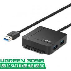 Đồ đọc thẻ bộ chuyển đổi với Hub và USB 3.0 ra SATA III model US231 EU Type EU Type Ugreen 30918