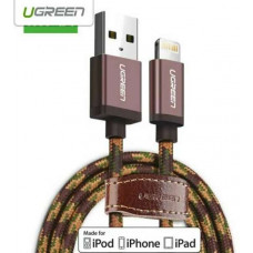 Cáp bện USB 2.0 ra Lightning model US247 Coffee 1.5M Coffee 1.5M Ugreen 40690