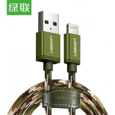 Cáp bện USB 2.0 ra Lightning model US247 army green 2M army green 2M Ugreen 40878