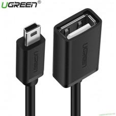 Cáp dẹp MIni USB đực ra USB cái OTG model US249 Staight đen Ugreen 40703