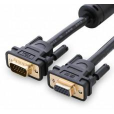 Cáp nối dài VGA đực ra cái model VG103 đen 2M Ugreen 11614