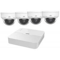 Bộ Kit Dome Camera ( Gồm 1 Đầu Ghi 4 Kênh POE + 04 Camera Ip Dome 2.0Mp ) Uniview KIT/301-04LB-P4/4*IPC322LR3-VSPF28-D