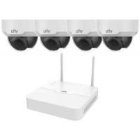 Bộ Kit Wifi Dome Camera ( Gồm 1 Đầu Ghi 4 Kênh Wifi + 04 Camera Ip Dome 2.0Mp Wifi ) Uniview KIT/301-04LB-W/4*322ER3-VSF28W-D