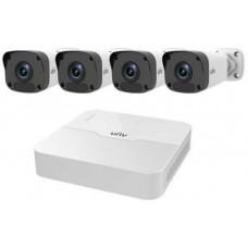Bộ Kit Camera Trụ ( Gồm 1 Đầu Ghi 8 Kênh Poe + 04 Camera Ip Trụ 2.0Mp Vỏ Kim Loại ) Uniview KIT/301-08LB-P8/4*2122LR3-PF40M-D