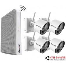 Bộ Kit đầu ghi và camera không dây dùng pin Vantech 4 kênh VPH-B046PIR